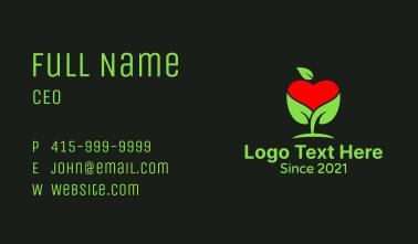 Organic Apple Heart  Business Card