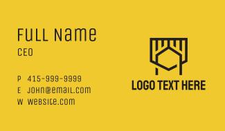 Monoline Shield Letter A Business Card
