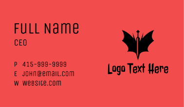Bat Winged Sword  Business Card