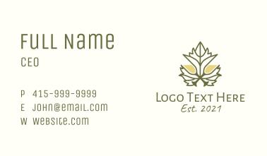 Grape Leaf Champagne Business Card
