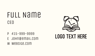 Reading Time Clock Business Card