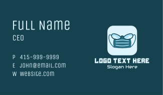 Surgical Mask Glasses App Business Card