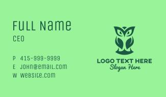 Modern Forest Owl Business Card