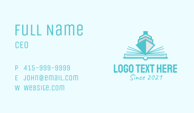 Boat Pop Up Book Business Card