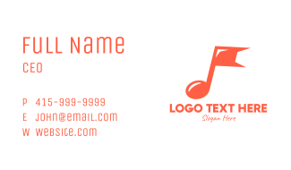 Generic Music Flag Business Card