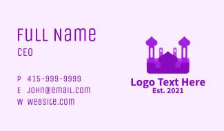 Purple Muslim Temple  Business Card