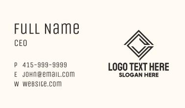 Square Tile Labyrinth  Business Card