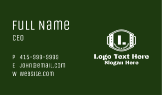 White Military Emblem  Business Card