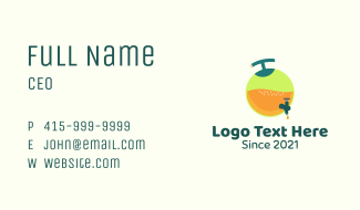 Fresh Fruit Juice Container Business Card