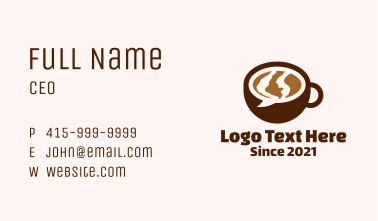 Chat Bubble Cup Business Card