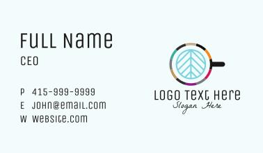 Organic Leaf Coffee Latte Business Card