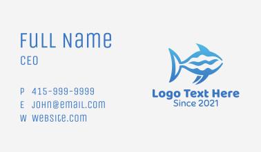 Blue Ocean Shark  Business Card