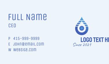 Blue Gradient Liquid  Business Card