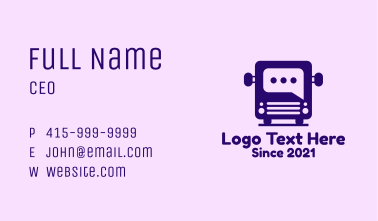 Bus Message Box Business Card