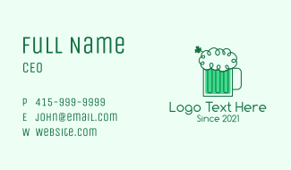 Irish Beer Froth  Business Card