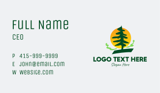 Pine Tree Forest Business Card