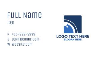 Blue Optical Camera Business Card