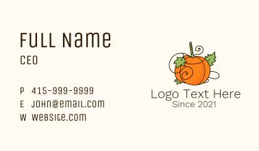 Vegetable Pumpkin Farm Business Card