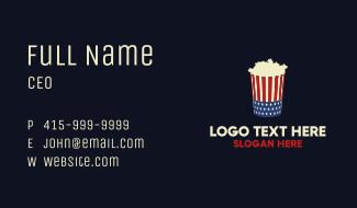 American Popcorn Theatre Snack Business Card