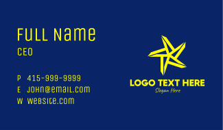 Bright Yellow Star Business Card
