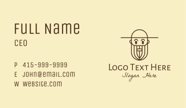Old Man Farmer Business Card
