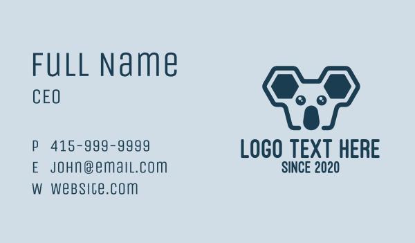 wild creature - Geometric Koala Business card horizontal design