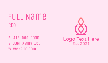 Pink Infinity Decor Business Card