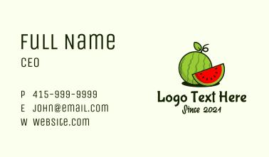 Watermelon Fruit Slice Business Card