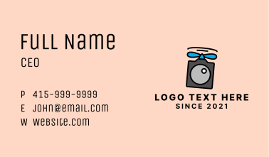 Flying Modern Drone  Business Card