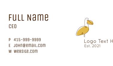 Monoline Dodo Bird  Business Card