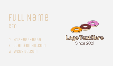 Triple Donut Snack Business Card