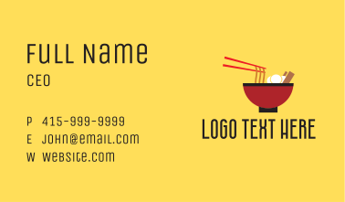Noodle Bowl Restaurant Business Card