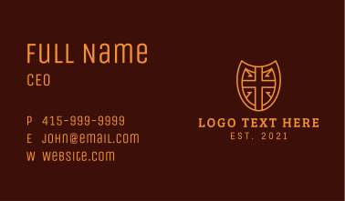 Nordic Medieval Shield Business Card