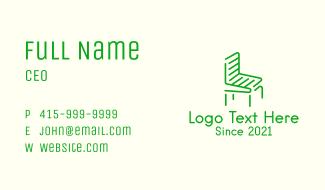 Green Outdoor Chair Business Card