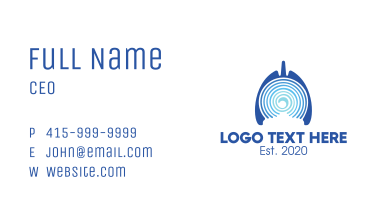 Blue Abstract Respiratory Lungs Business Card
