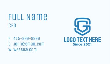Monogram S & G Shield Business Card