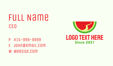 Watermelon Slice Pathway  Business Card