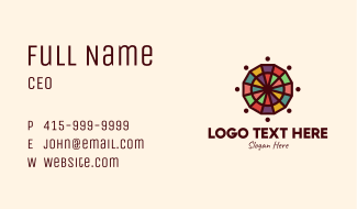Colorful Mosaic Wheel Business Card