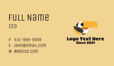 Cute Parrot Mascot  Business Card