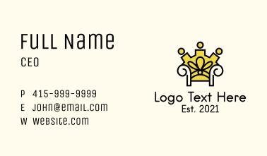 Royal Chair Throne Business Card