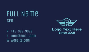 Navy Wing House Business Card