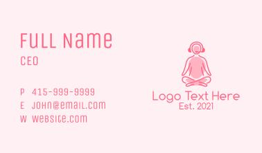 Online Meditation Class Business Card