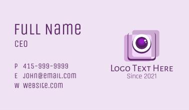 Photography Camera App Business Card
