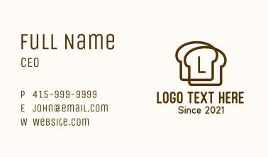 Bread Slice Letter Business Card