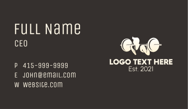 Weight Lifting Competition Business Card