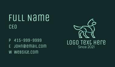 Monoline Pet Dog Business Card