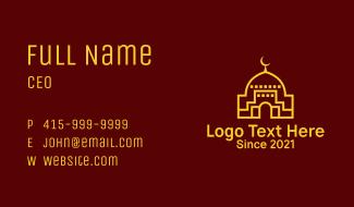 Islamic Mosque Moon  Business Card
