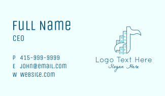 Music Note City Business Card