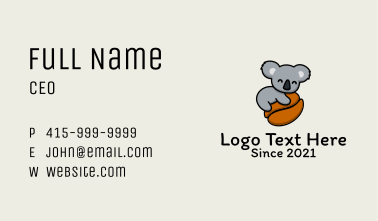 Koala Coffee Bean  Business Card