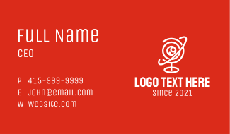 Web Camera Orbit Business Card